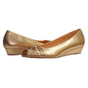 Дамски кожени обувки Gabor златисти