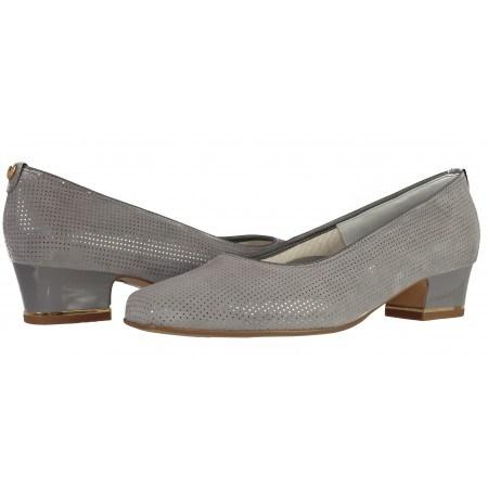 Дамски ежедневни обувки Ara  естествена кожа  сиви ширина Н