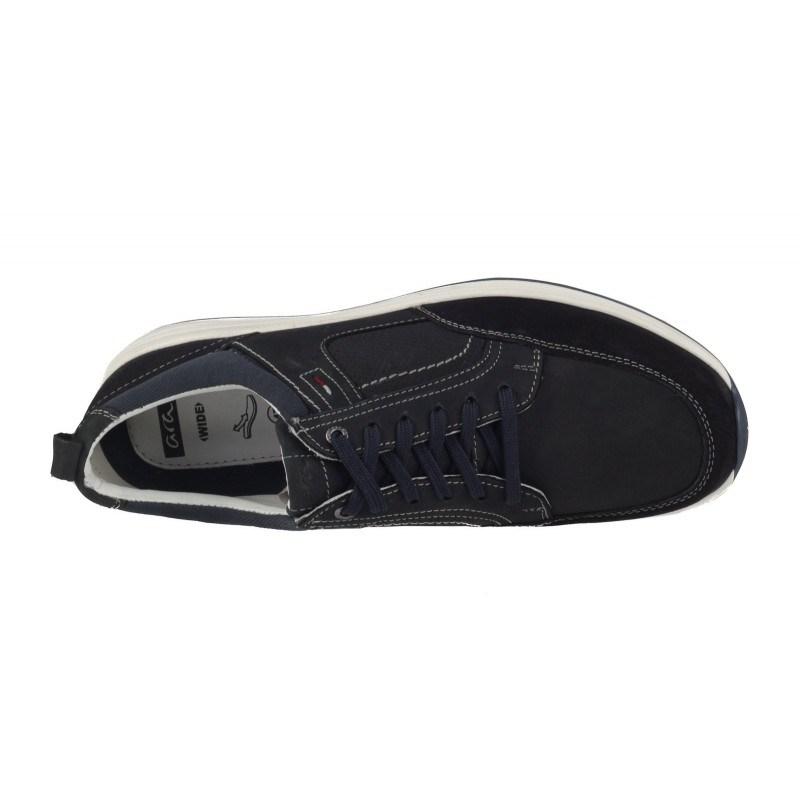 Мъжки спортно-елегантни обувки естествена кожа Ara сини wide fit