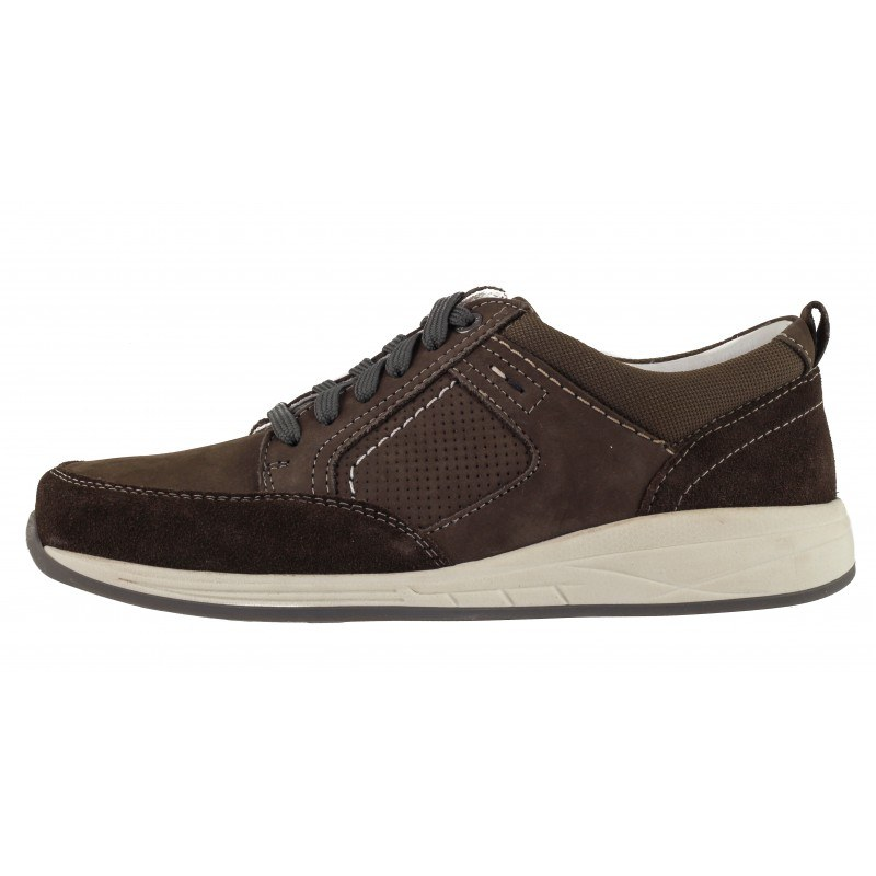Мъжки спортно-елегантни обувки естествена кожа Ara кафяви wide fit