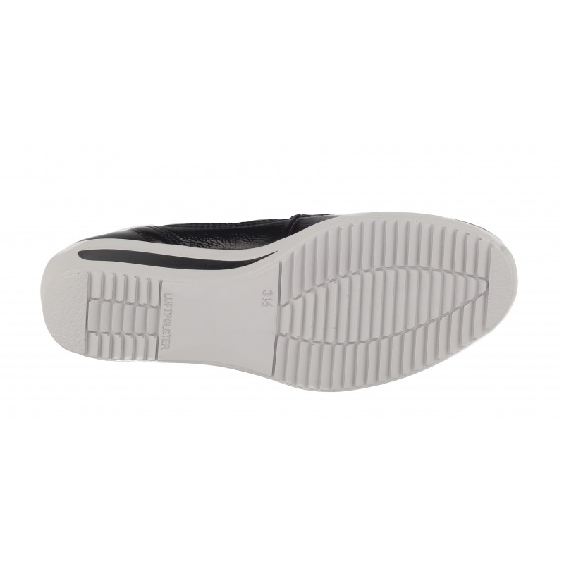 Дамски обувки на платформа от естествена кожа Ara ширина H черни