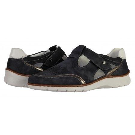 Дамски  отворени обувки Ara  естествена кожа сини ширина Н