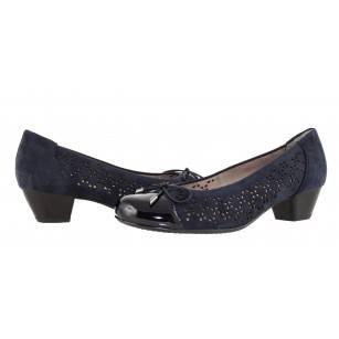 Дамски обувки на нисък ток Ara естествена кожа ширина H сини