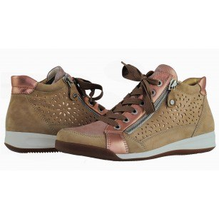 Дамски спортни обувки в връзки Ara розови/бежови