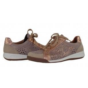 Дамски спортни обувки от естествена кожа Ara розов металик