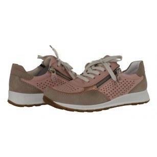 Дамски спортни обувки от естествена кожа Ara бежови/розови