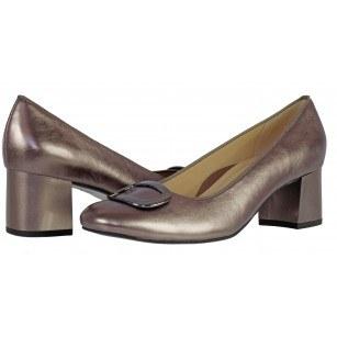 Дамски обувки от естествена кожа Ara сребристи