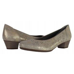 Дамски ежедневни обувки Ara естествена кожа бежов/сребрист ширина Н