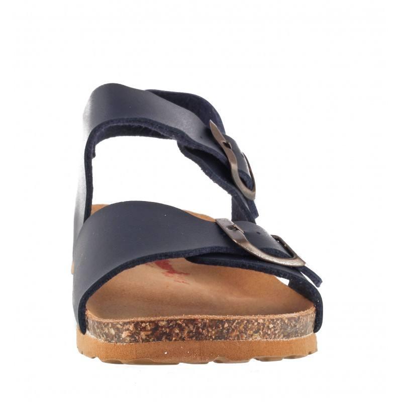 Детски ортопедични сандали за момче BioNatura сини