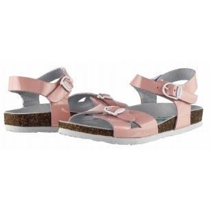 Детски ортопедични сандали за момиче BioNatura розов лак естествена кожа