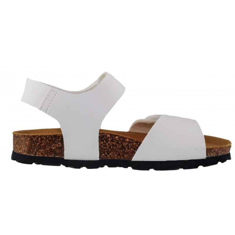 Детски ортопедични сандали за момиче BioNatura бели