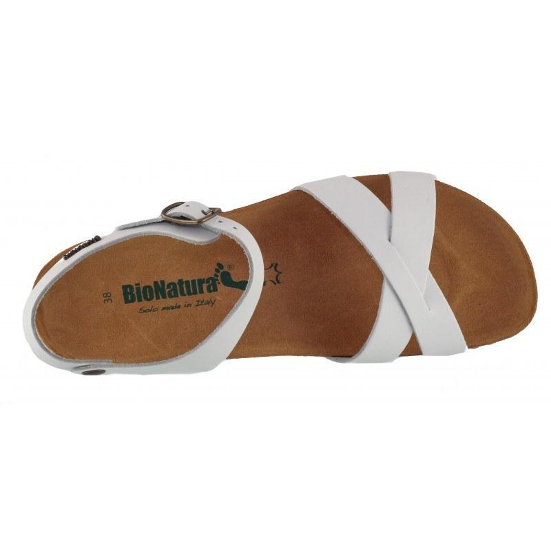 Дамски ортопедични сандали BioNatura естествена кожа сиви корк