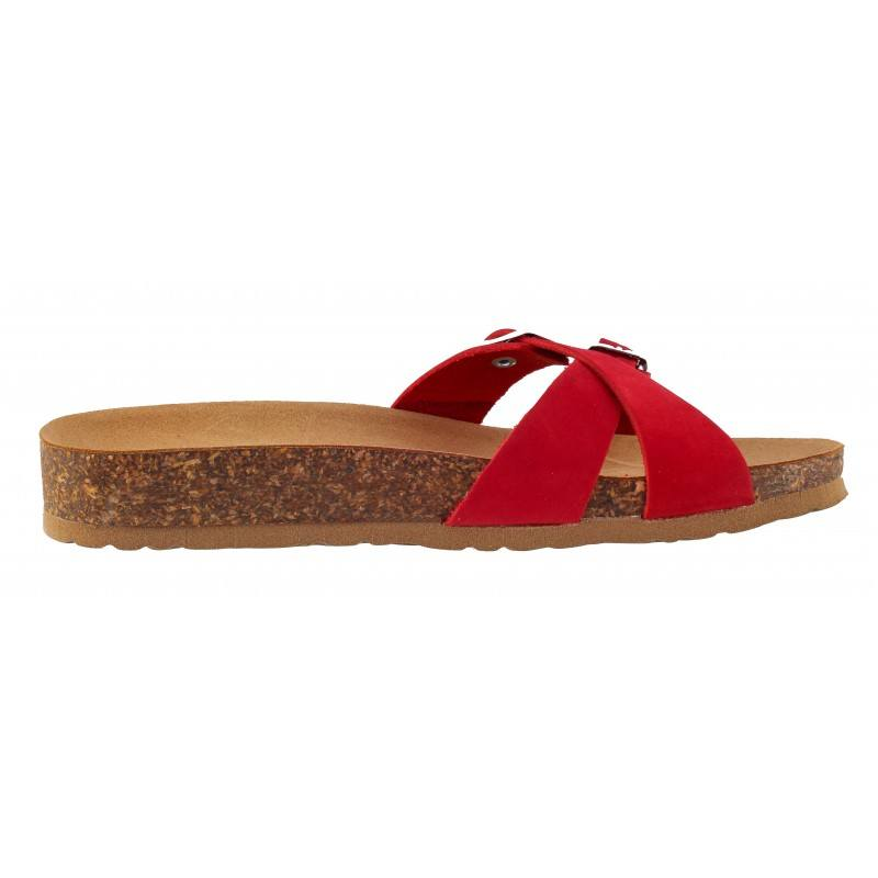 Дамски ортопедични чехли BioNatura естествена кожа корк