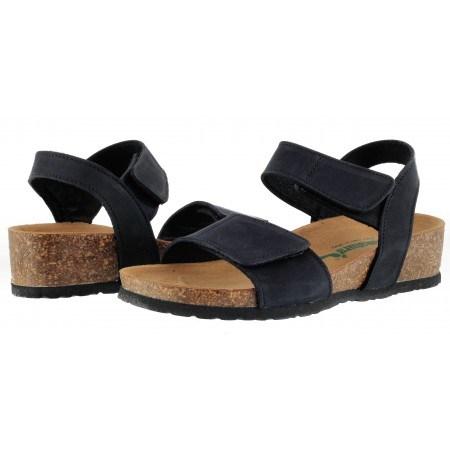 Дамски ортопедични сандали BioNatura естествена кожа черни корк
