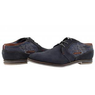 Мъжки обувки от естествена кожа Bugatti сини Fedele