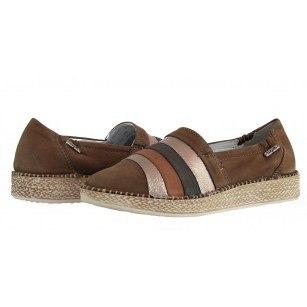 Дамски ежедневни обувки от естествена кожа Bugatti Fredie кафяви