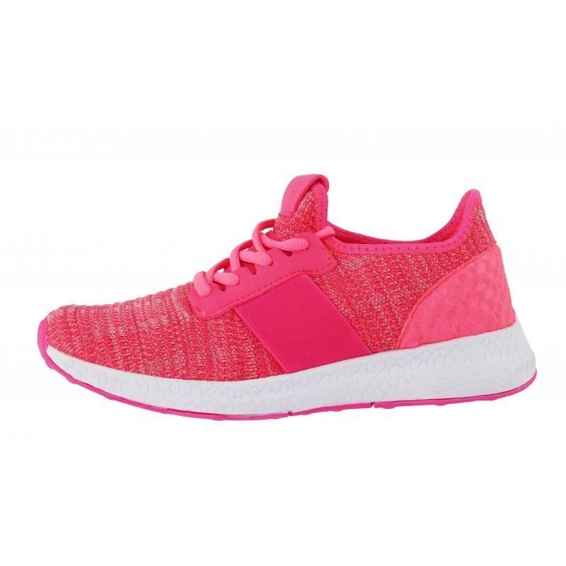 Дамски маратонки цял чорап Bulldozer розови