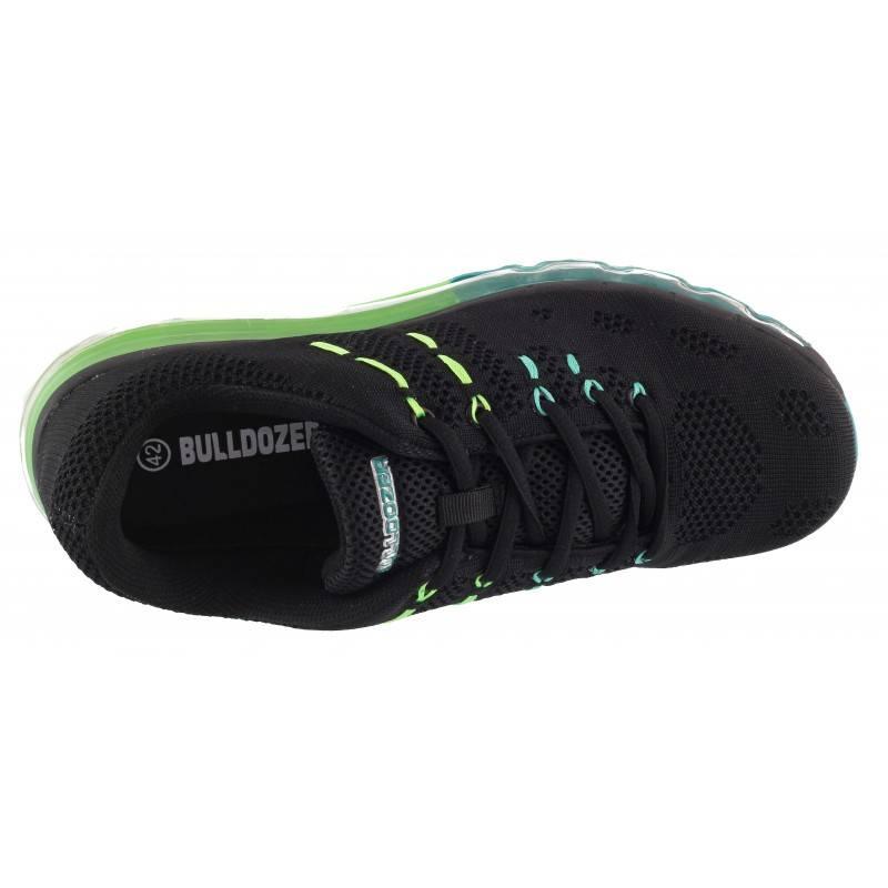 Мъжки маратонки Bulldozer с камерна подметка черни/зелени