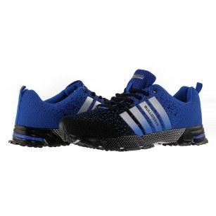 Мъжки маратонки с връзки Bulldozer черни/сини
