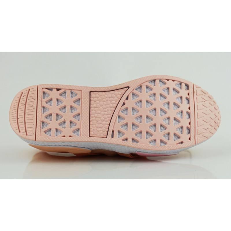 Дамски маратонки цял чорап Bulldozer бежови/розови