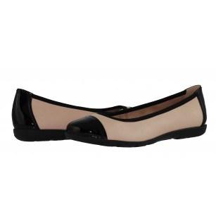 Дамски кожени обувки балерина Caprice бежови/черни естествена кожа