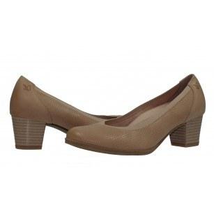Дамски бежови обувки на ток естествена кожа Caprice H