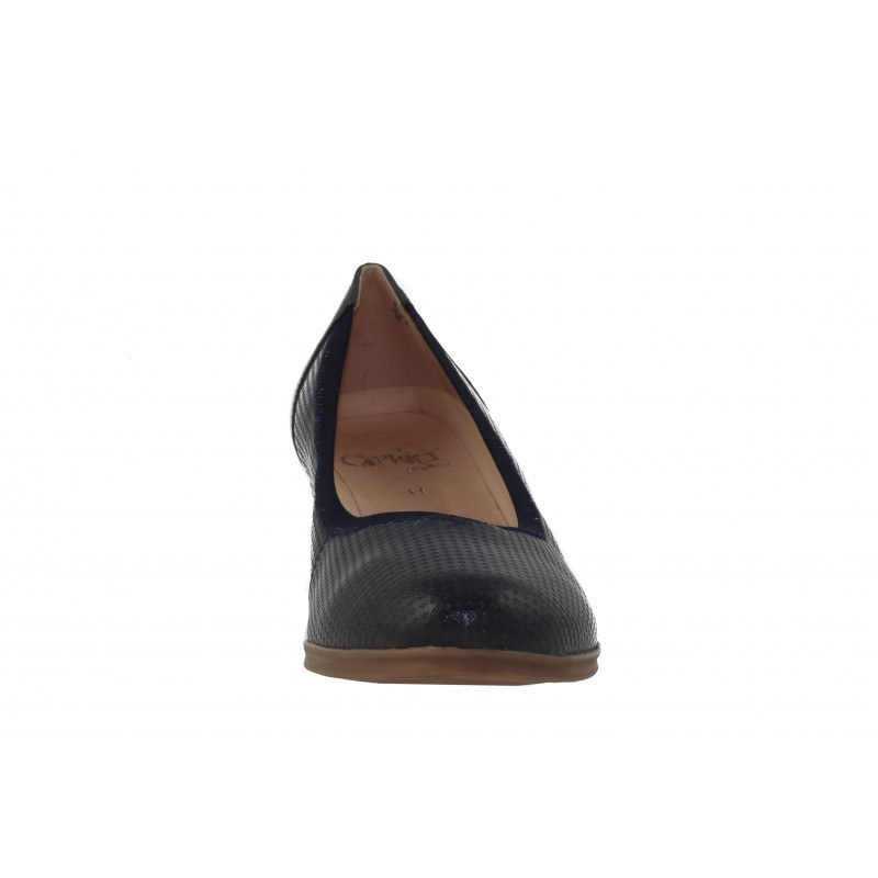 Дамски сини обувки на ток естествена кожа Caprice H