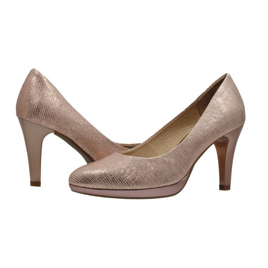 36fc5b79b9a ✓ Елегантни дамски обувки на висок ток Caprice розов металик ...