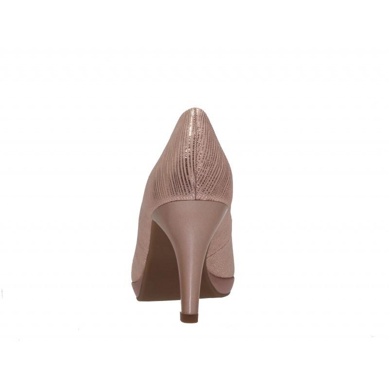 Елегантни дамски обувки на висок ток Caprice розов металик — Kompass