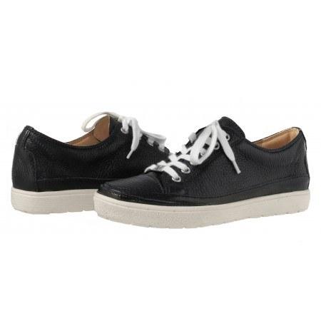 Дамски спортни обувки еленска кожа тъмно сини връзки Caprice