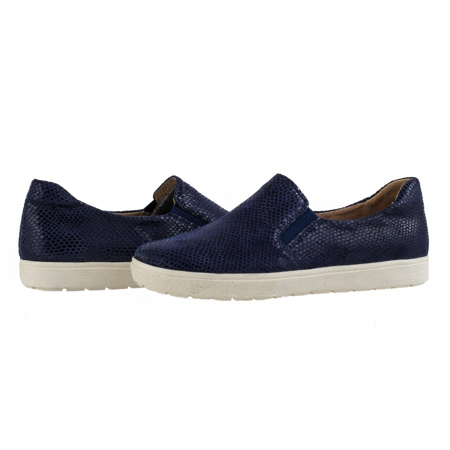 Дамски спортни обувки естествена кожа Caprice сини