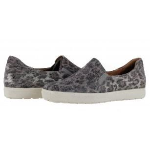 Дамски спортни обувки естествена кожа Caprice сребристи тигрови