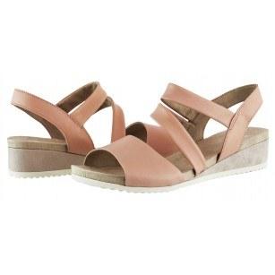 Дамски сандали на платформа Caprice естествена кожа розови