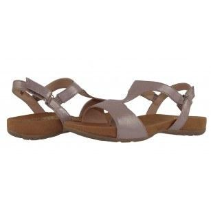 Дамски ортопедични сандали от естествена кожа Caprice розов металик