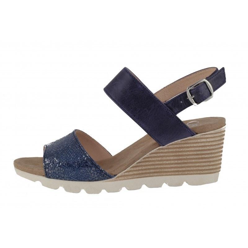 Дамски сандали на платформа естествена кожа Caprice сини