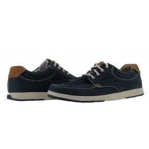 Мъжки спортно-ежедневни обувки Clarks Norwin Vibe сини деним
