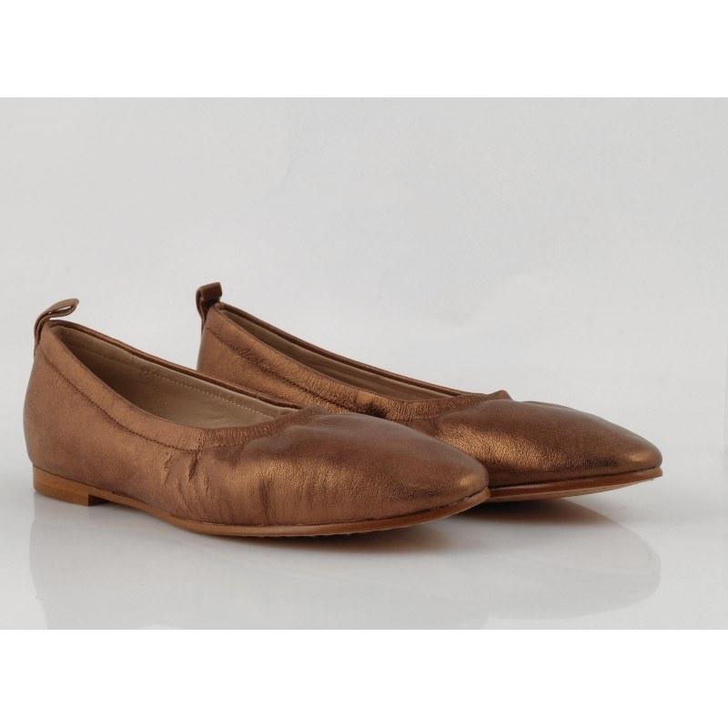 Дамски балерини от естествена кожа Clarks Grace Mia бронз