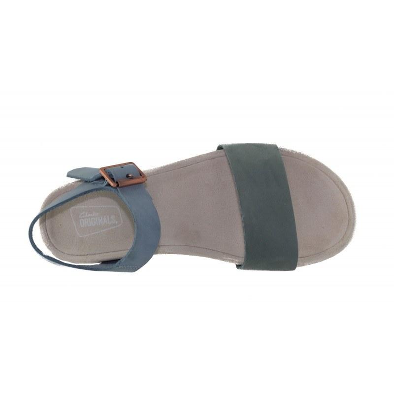 Дамски равни сандали пастелно сини Clarks Dusty Soul Originals