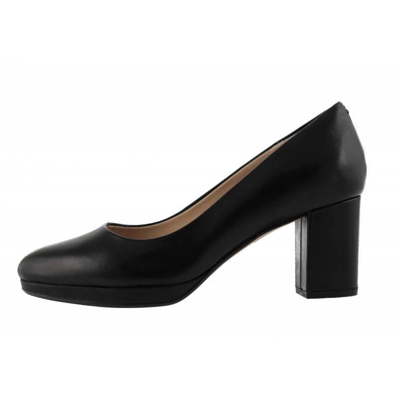 Дамски обувки на ток Clarks естествена кожа черни Kelda Hope