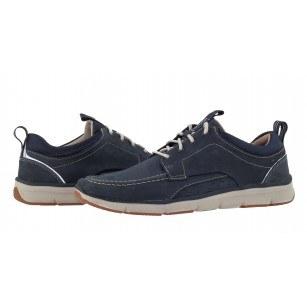 Мъжки спортни обувки с връзки естествена кожа Clarks Orson Bay