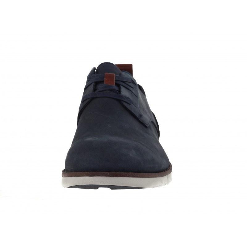Мъжки сини обувки от естествена кожа Clarks Trigen Lace