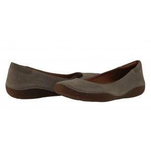 Дамски бежови равни обувки от естествена кожа Clarks Autumn Sun