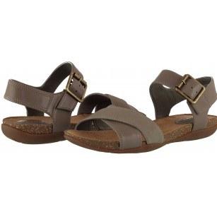 Дамски анатомични сандали Clarks Autumn Air естествена кожа кафяви