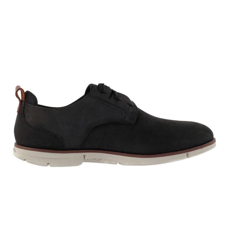 Мъжки черни обувки от естествена кожа Clarks Trigen Lace