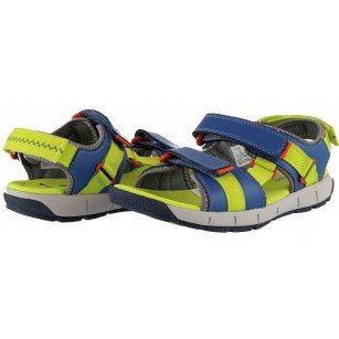 Детски ортопедични сандали за момче Clarks JollyCrazy Jnr синьо/зелени