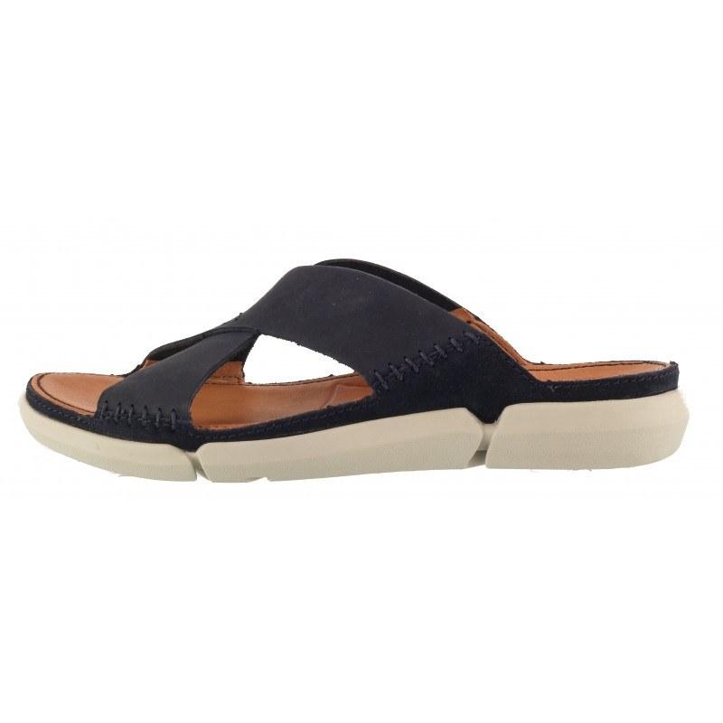 Мъжки анатомични чехли Clarks Trisand Cross естествена кожа Trigenic сини