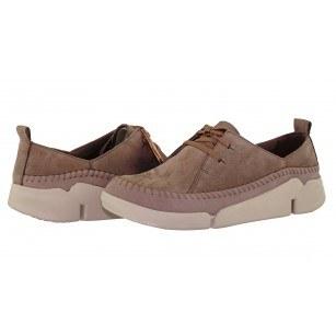 Дамски спортно-ежедневни обувки Clarks Tri Angel естествена кожа бежови