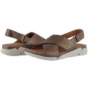 Дамски анатомични сандали Clarks Tri Alexia естествена кожа Trigenic