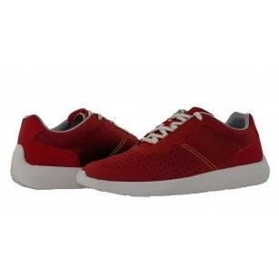 Мъжки спортни обувки с връзки червени Clarks Torset Vibe