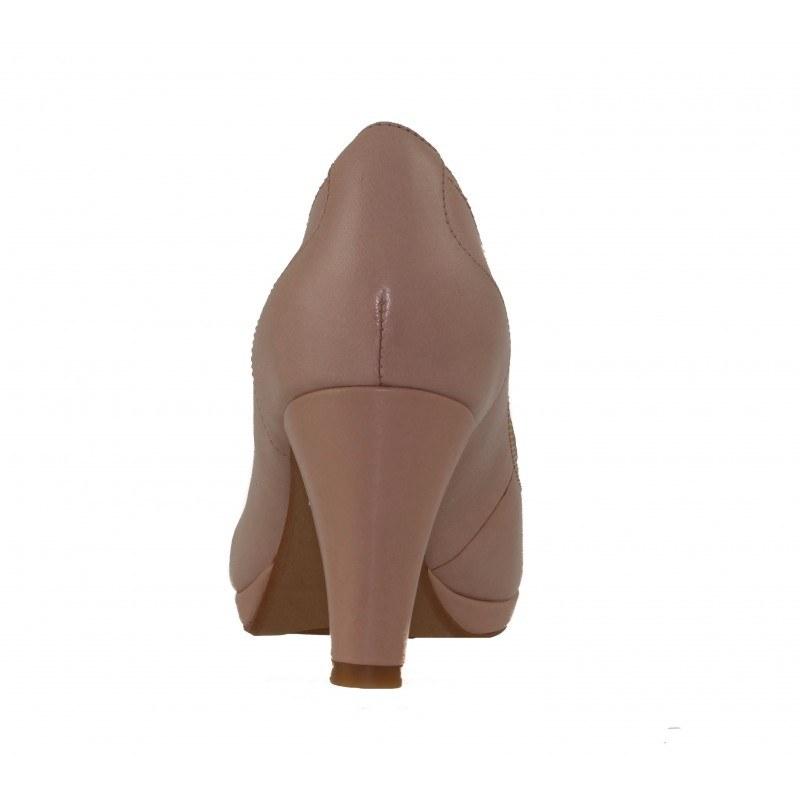 Елегантни дамски обувки на висок ток Clarks Chorus Bombay бежови